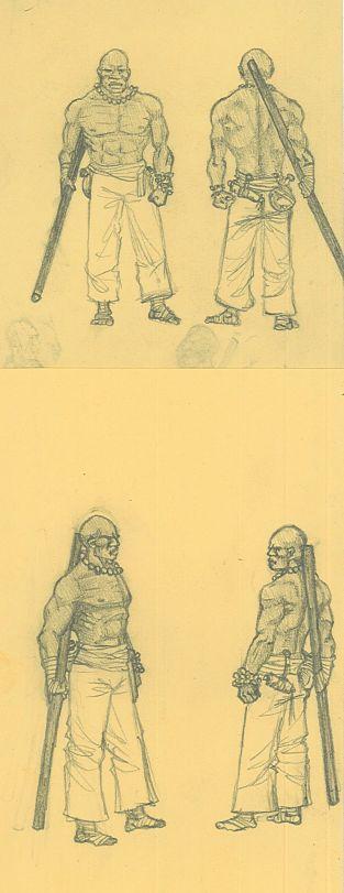 Monk concept sketch